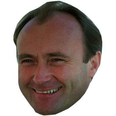 Celebrity Cutouts Phil Collins (Young) Maske aus Karton
