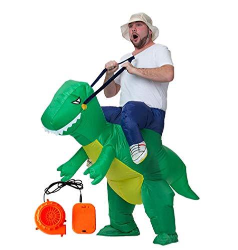 Lvbeis Erwachsene Reiten Dinosaurier Aufblasbare Kostüm T-Rex Costume for Halloween Horror Party Outfit Für Größe 150 cm-190cm
