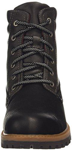 Tamaris 26211, Stivali Combat, gamba corta, imbottitura calda donna Multicolore (Mehrfarbig (Blk/Anthracite 068))