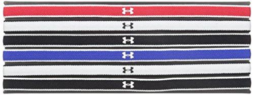 Under Armour Damen UA Mini Kopfband (6Stück), Damen, rot/schwarz -