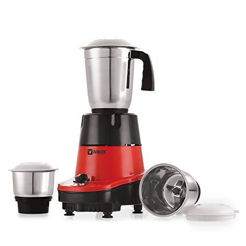 iVBOX Nano-Speed 550-Watt Mixer Grinder with 3 Steel Jar