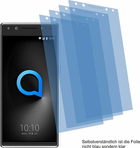 4ProTec 4X Crystal Clear klar Schutzfolie für Alcatel 5 Bildschirmschutzfolie Displayschutzfolie Schutzhülle Bildschirmschutz Bildschirmfolie Folie