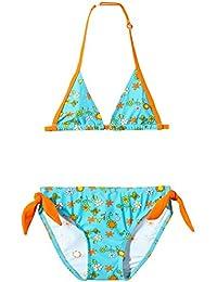 eleMar–Bikini para niña, 4–126–08B, niña, Bikini, Hawaii-Orange/Orange, 92