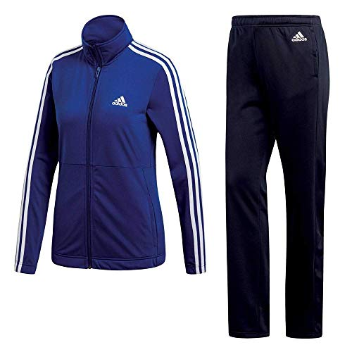 adidas Damen Back2Basic 3 Stripes Trainingsanzug, Top:Mystery Bottom:Legend Ink/White, M