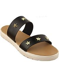 Black Star Studs|matte| Gold|black| Ladies Flats |Fancy Flats |Women Flats | Ladies Slippers |Girls Slippers |...