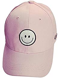 df81235ae98 Tomatoa Fashion Embroidery Cotton Adjustable Baseball Cap Snapback Hip Hop  Flat Hat with Smiling Printed for