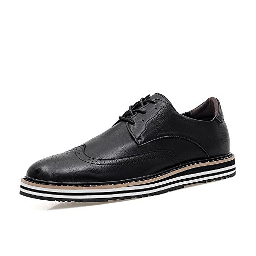 Mens British Style High Quality Soft Leather Oxfords Shoes Black 908