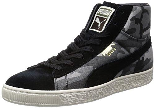 Puma Unisex Suede Mid Classic+ Rugged Limestone Gray Leather Boat Shoes – 8 UK 41j93HOGzaL