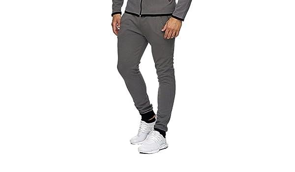 1afc1e1c723cc MonsieurMode - Pantalon de Jogging Homme Sport Bas de survêtement 1964 Gris  - XXL - Gris: Amazon.fr: Vêtements et accessoires