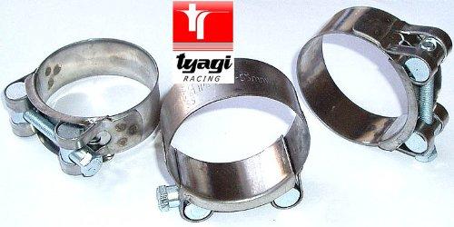 Preisvergleich Produktbild Gelenkbolzenschelle LLK- Auspuff- Schelle Edelstahl 68-73mm Tyagi Racing