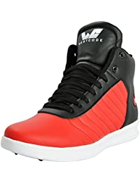 [Sponsored]WESTCODE Mens Online Red Synthetic Leather High Top Casual Shoes And Sneakers