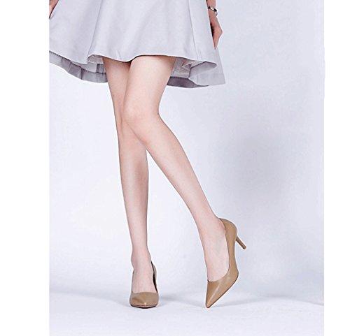 Primavera Y Verano Elegantes Tacones Altos Sexy Conmutar Los Zapatos De La Boca (color: Marrón, Tamaño: 37) Marrón