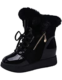 Zapatos Mujer, Tefamore Soft Snow Boots Round Toe Flat Invierno Botines de piel