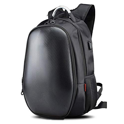 wonderday Motorrad-Fahr-Rucksack, wasserdicht, Hartschale, für Motorradhelme, Reisen, Laptop, Rucksack für 39,6 cm (15,6 Zoll) Laptop