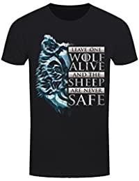 T-Shirt Leave One Wolf Alive Homme Noir