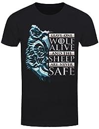 Grindstore Men's Leave One Wolf Alive T-Shirt Black