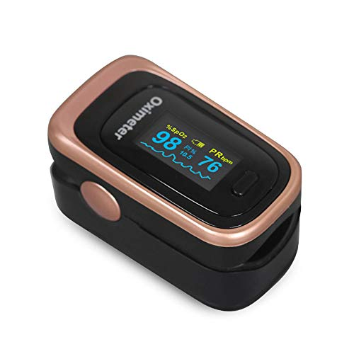 Fingerspitzenanzahler Oximeter, Blutsauger-Sättigungsmonitor, SpO2 und Schlafüberwachung für Tagesgesundheit, Perfusionsindex und Herzfrequenzmessung,B