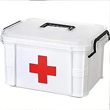 Yunhigh BotiquíN De Primeros Auxilios Caja con Cerradura Medicina Almacenamiento Kit Emergencia Familiar Organizador Gabinete Bandeja