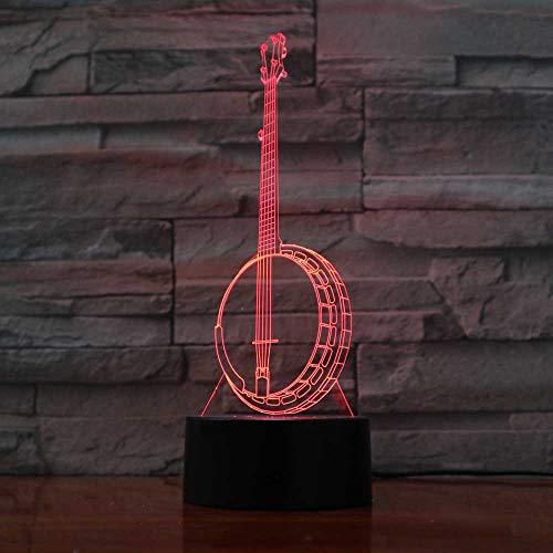 wangZJ 3d nachtlicht/schreibtischlampe/modellierung nachtlicht / 3d illusion lampe / 7 / wohnzimmer schlafzimmer bar beste geschenk spielzeug /banjo (Banjo Spielzeug)