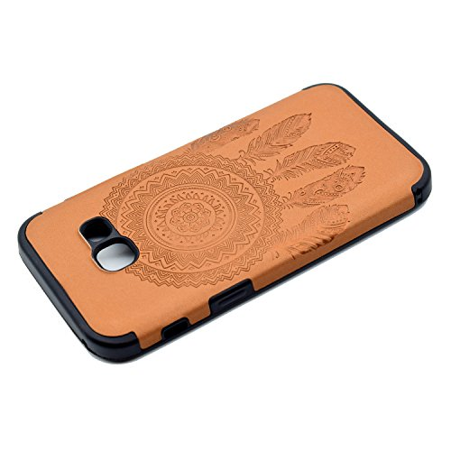 inShang Coque Samsung Galaxy A3(2017) Housse Etui Plastique Case ductile TPU Brown chimes
