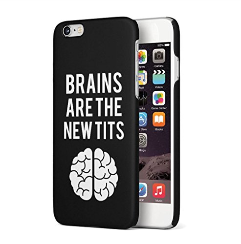 Pink Flawless Apple iPhone 6 / iPhone 6S SnapOn Hard Plastic Phone Protective Custodia Case Cover Brains New Tits