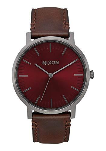Nixon Unisex Adult Analogue Quartz Watch with Leather Strap A1058-2996-00