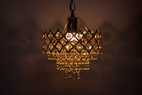 PRADHUMAN Lighting Metal Decorative Hanging Pendant Ceiling Lights (Gold)