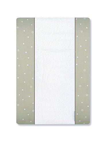 Petite Leinen (Petite Stars Design 36022910–Wickelauflage Badewanne, Baby, 50x 70cm, weiß und Leinen)