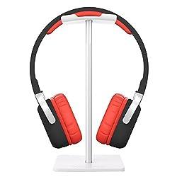 Kopfhörerständer, Minkle Universal Kopfhörerhalter für Over Ear Kopfhörer, aus Aluminium + TPU + ABS, Weiß