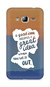 AMEZ a good idea becomes a great idea when you let it out Back Cover For Samsung Galaxy J3 (2016 EDITION)
