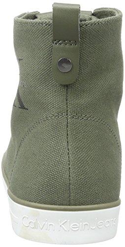 Calvin Klein Jeans Dolores, Baskets Basses Femme Vert (Military)