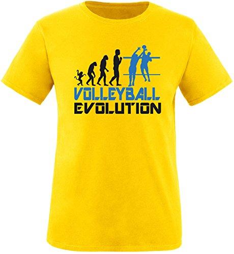 EZYshirt® Volleyball Evolution Herren Rundhals T-Shirt Gelb/Schwarz/Blau