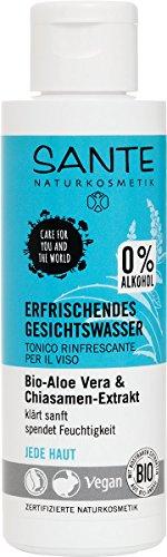 SANTE Naturkosmetik Erfrischendes Gesichtswasser, Ohne Alkohol, Jede Haut, Spendet Feuchtigkeit, Vegan, 2x125ml Doppelpack