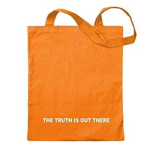 KIWISTAR - The truth is out there Jutebeutel in 12 verschiedenen Farben - Tragetasche bedruckt Design Sprüche Spruch Motive Baumwolltasche Print Stoffbeutel Umhängetasche langer Henkel