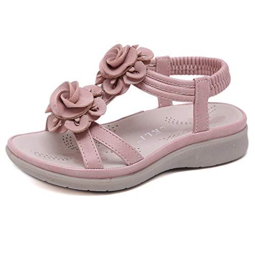 Dtuta Kleider Sommer Kinderschuhe Kinder MäDchen Farbverlauf Einfachen Bogen Spitze Kleine Schuhe Tanz Prinzessin Schuhe Einzelne Schuhe Baotou Klettsandalen -