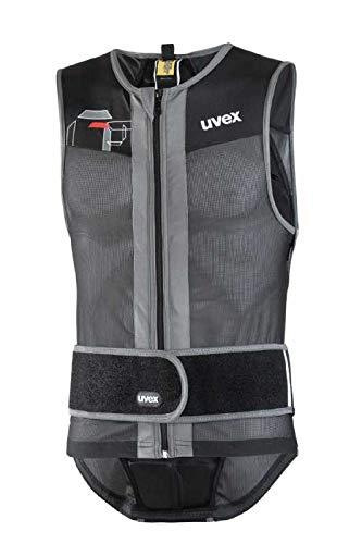 uvex men vest level 1, black-grey-red, xs-s