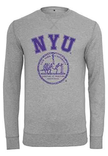 MERCHCODE NYU Sweat-Shirt à col Rond pour Homme XXL Gris chiné