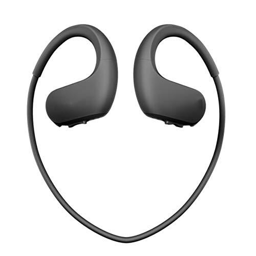 Nackenbügel-In-Ear-Kopfhörer Tragbarer MP3-Player Wasserdichter magnetischer Kopfhörer für Sport, Bewegung, Laufen, Fitnessstudio,Black,4GB