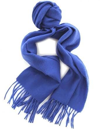 Jules B Accessory Blue Colour Block Wool Scarf OS