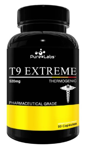 Pure Labs T9 Extreme Slimming Pills 90 capsules – (Extreme fat loss diet aid, appetite suppressant, increased energy alertness and better mood)