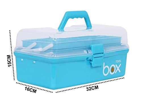 Alexindia marketing Storage Repair Tool Box Case Portable 3 Compartments/Layers Multipurpose Medicine Organiser