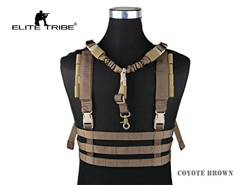 eLITe Tribe Military Airsoft Combat MOLLE-System Low Profile Chest Rig Coyote Brown