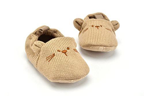 Bébé Filles Garçons Premier Walkers Chaussures Intérieur Semelle molle Non Slip Chaussures pour tout-petits Ours