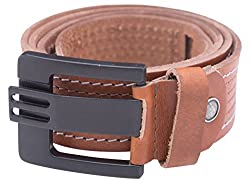 Spykar Mens Leather Belt (SPY/MBL/2AF46_TAN_medium)