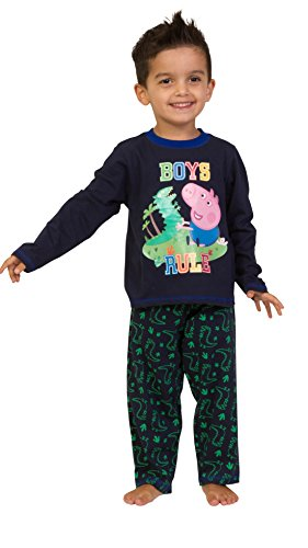 ThePyjamaFactory - Pijama para niño, diseño de Peppa Pig (2-6 años) azul 3-4 años