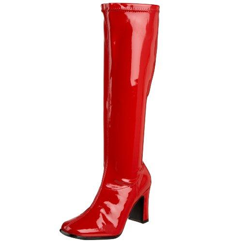 Funtasma KIKI-350 Damen Gogo Stiefel Red Str Pat
