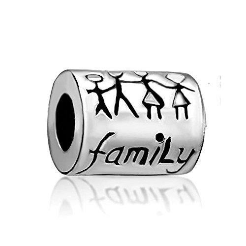 Familia de uniqueen Love Forever Charms Venta barato Beads Fit Pandora Chamilia pulsera