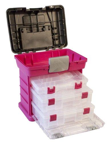 Creative Options 1363–85Grab N 'Go Rack System mit zwei Nr. 2–3630Tief pro-latch Organisatoren und One Nr. 2–3650Organizer, magenta/Sparkle Grau, Tief Utility Box