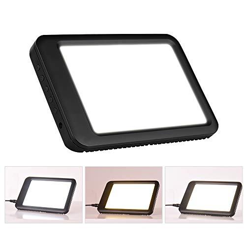 Aibecy 5000-35000 Lux Ultrahelle LED Leuchtbox Tracer Therapie Energielampe mit Halterung 3000-6500K Farbtemperatur10 Stufe Einstellbare Helligkeit/stufenloses Dimmen