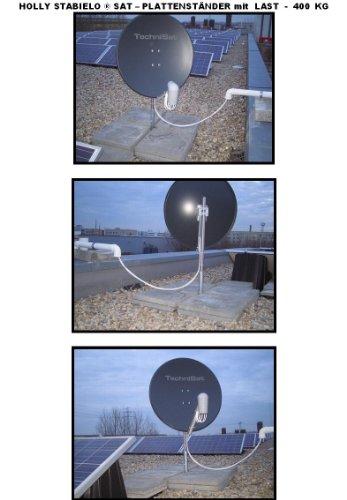 Spécial pLATTENSTÄNDER sATELITENANLAGEN-support pour plaques 40 x 40 cm pour tube de 80 mm-acier - 4 schrägrahmen et 80 mm µ feuerverzinkung revêtement en bade-wurtemberg-holly ® produits sTABIELO ®-holly-sunshade ®